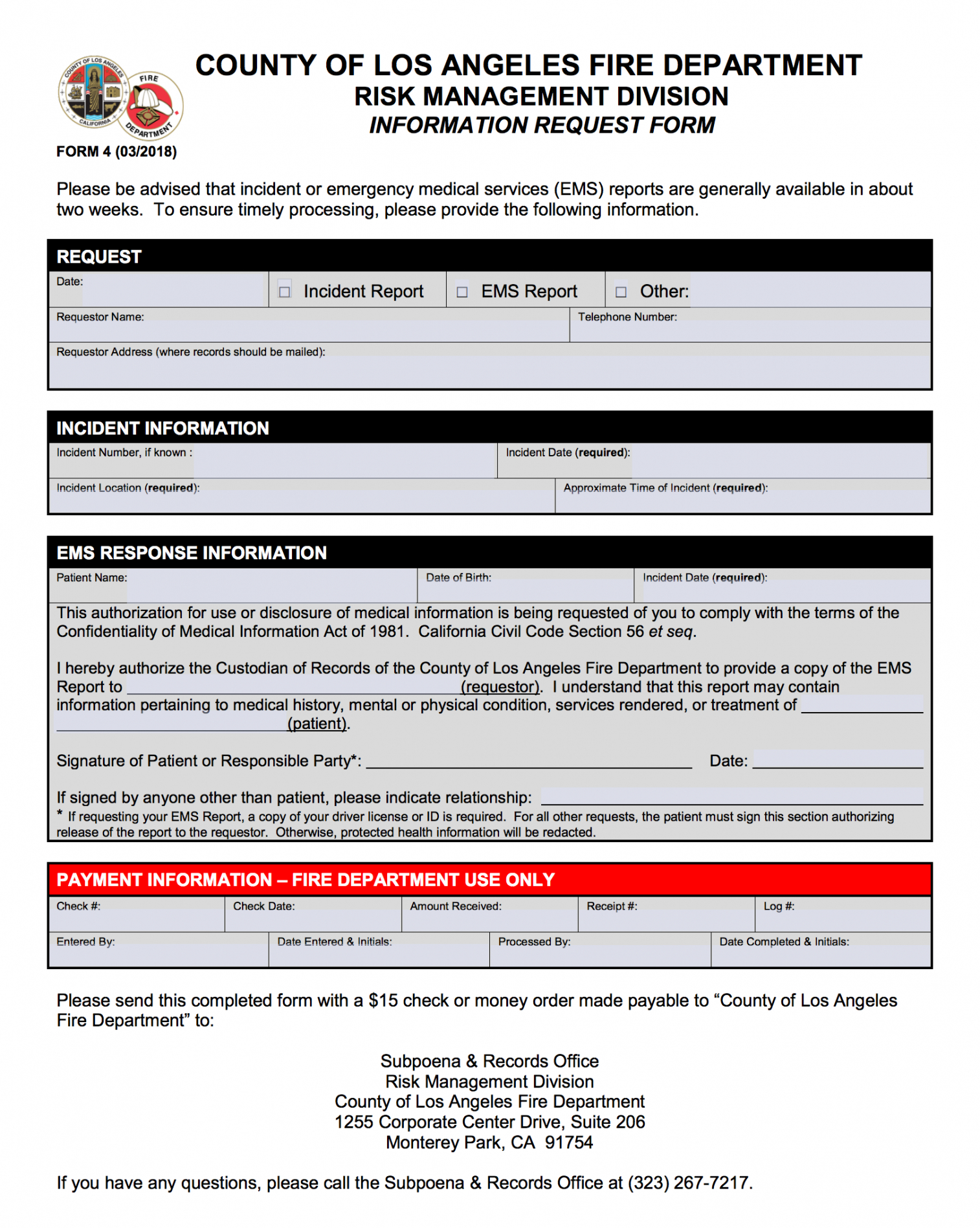 sample incident and ems report request  fire department ems incident report template word