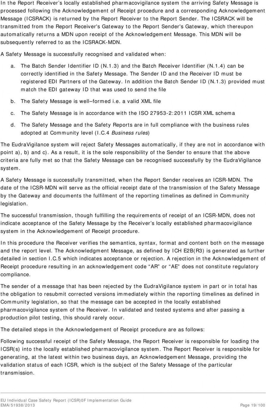 editable eu individual case safety report icsr 1 implementation individual case safety report template excel