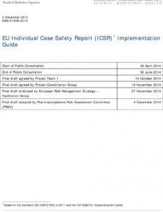 editable eu individual case safety report icsr 1 implementation individual case safety report template word