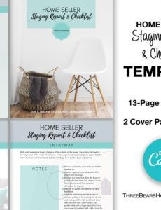 editable home staging report and checklist  workbook template home staging report template pdf