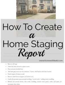 editable how to create a home staging report  staging tips  home home staging report template pdf