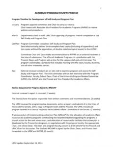 editable program review template  california state university program review report template doc