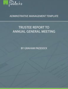editable template  trustee report to annual general meeting trustees annual report template doc