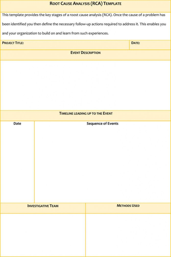free 24 root cause analysis templates word excel powerpoint failure analysis report template