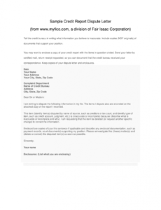 free credit dispute letter template pdf  fill online printable dispute credit report template pdf