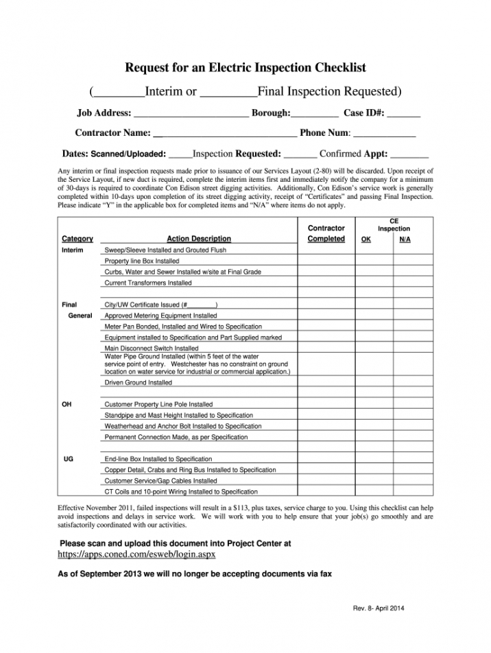 free electrical inspection checklist  fill out and sign printable pdf template   signnow electrical inspection report template excel