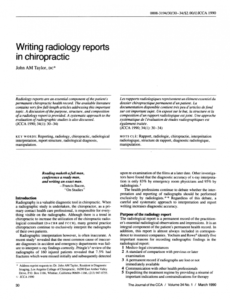 free pdf writing radiology reports in chiropractic x ray report template chiropractic
