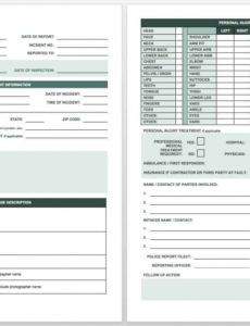printable free incident report templates & forms  smartsheet security breach report template example