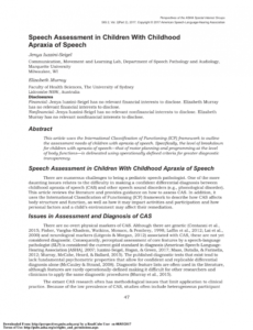 printable pdf speech assessment in children with childhood apraxia of speech language evaluation report template excel