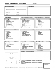 printable player evaluation form  fill out and sign printable pdf template  signnow volleyball scouting report template excel