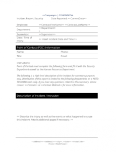 printable security breach report form  3 easy steps security breach report template pdf