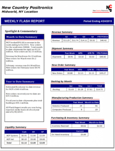printable the weekly flash report  hudson business analytics flash report template doc