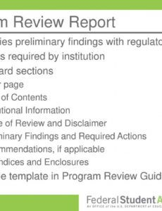 program review essentials and the top 10 compliance findings program review report template example