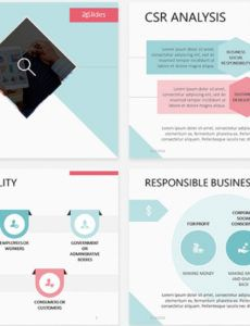 sample corporate social responsibility csr free powerpoint template corporate social responsibility report template