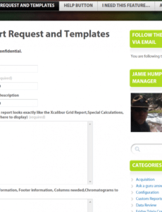 sample custom reports and how to request  tracefinder direct data report request form template sample