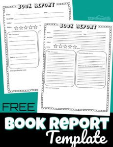 sample free book report template elementary biography report template doc