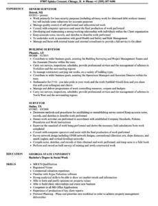 surveyor resume samples  velvet jobs surveyors report template word