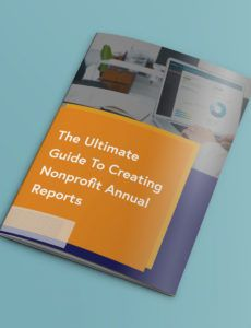 the ultimate guide to creating nonprofit annual reports fundraising financial report template doc