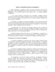 10 workplace investigation report examples  pdf  examples workplace harassment investigation report template