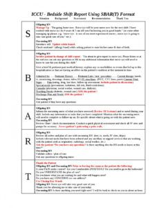 ccu bedside shift report template by ian saludares  issuu bedside shift report template