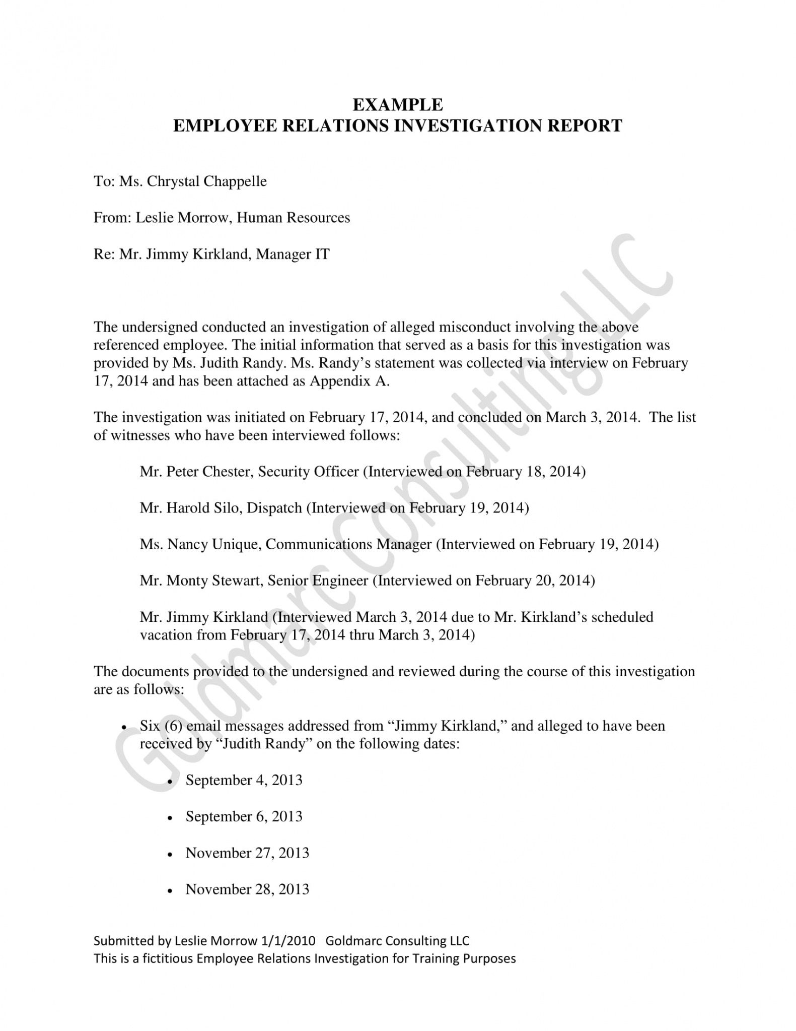 editable 10 workplace investigation report examples  pdf  examples workplace harassment investigation report template doc