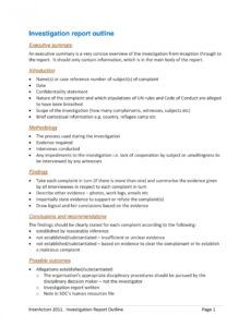 editable 10 workplace investigation report examples  pdf  examples workplace harassment investigation report template example