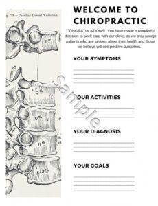 editable chiropractic report of findings folders chiropractic report of findings template
