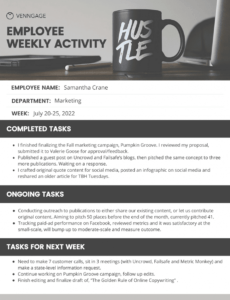 editable simple employee weekly report quarterly report template small business sample