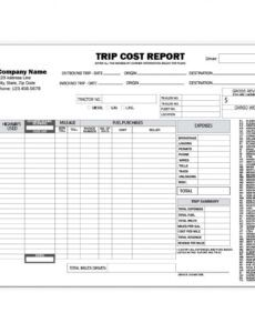 editable trucking company forms and envelopes  custom printing truck driver trip report template example