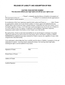 free release of liability form  fill out and sign printable pdf template   signnow injury liability release form template sample