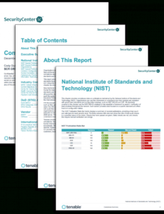 printable compliance summary report  sc report template  tenable® compliance report template