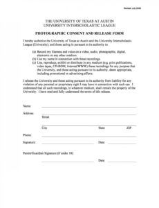 printable photo release form template ~ addictionary wedding photo release form template sample