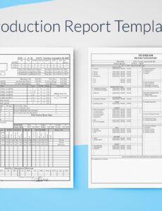 printable production report template for excel  free download  sethero daily production report template example