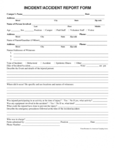 sample accident report form  fill out and sign printable pdf template  signnow injury incident report form template doc