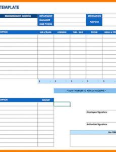 Best Business Travel Expense Report Template Doc