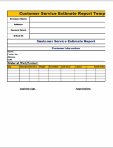 Best Customer Service Report Template Doc Example