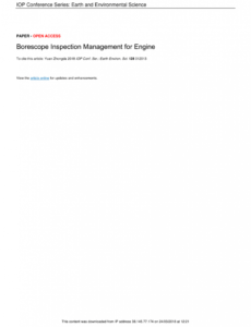 Editable Borescope Inspection Report Template Pdf Example