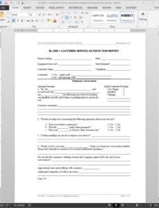 Editable Customer Service Report Template  Example