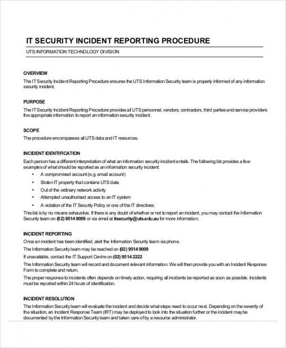 Editable Security Guard Incident Report Template Pdf Example