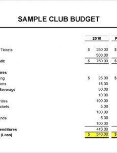 Free Non Profit Treasurer Report Template Doc