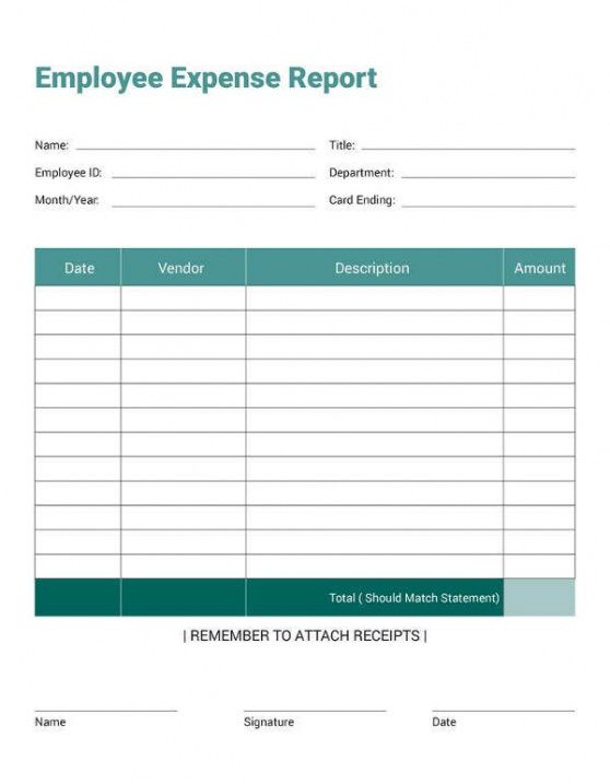 Professional Consultant Expense Report Template Doc