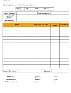 Professional Health And Safety Inspection Report Template Pdf Example