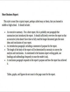 Best Formal Business Report Template Word Sample