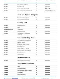 Best Hvac Inspection Report Template  Example