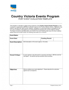 Best Post Event Report Template Pdf