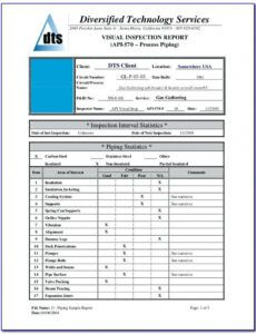 Costum Property Condition Assessment Report Template Excel