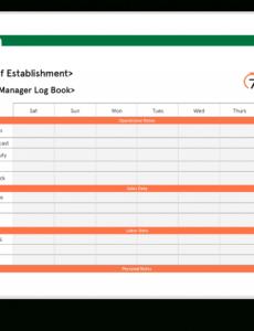 Costum Restaurant Daily Sales Report Template Excel Sample