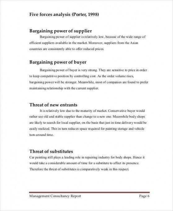Editable Business Consultant Report Template Pdf Sample
