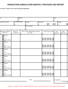 Editable Monthly Production Report Template Pdf Example