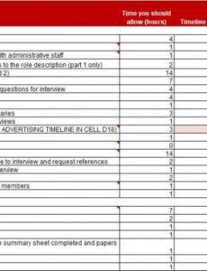 Editable Recruitment Status Report Template Pdf Example